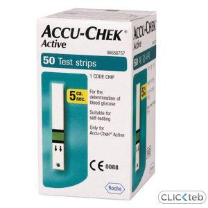 نوار تست قند خون اکیوچک اکتیو ACCU-CHEK Active (50 عددی)