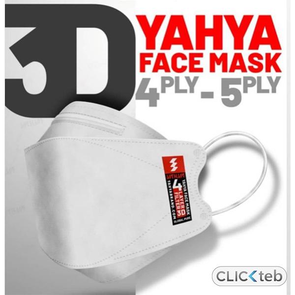 ماسک سه بعدی (3D) 5 لایه یحیی – بسته سه عددی